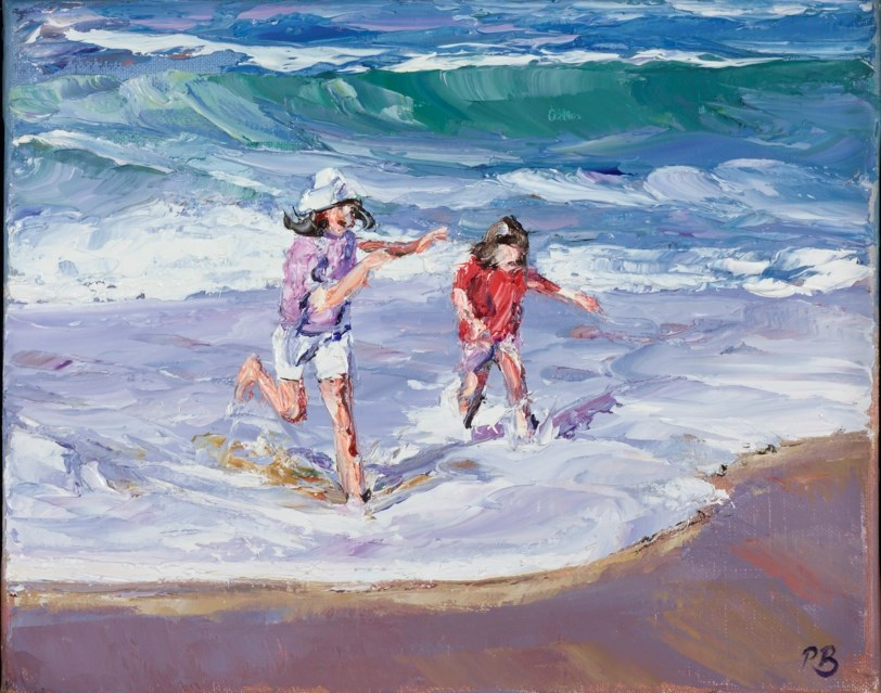 Children at Play by david porteous butler -  sized 12x10 inches. Available from Whitewall Galleries